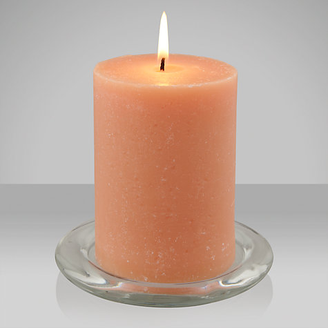 Buy John Lewis Hinoki Wood Scented Pillar Candle, Small Online at johnlewis.com