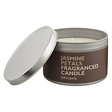 Buy John Lewis Jasmine Petals Scented Candle In A Tin Online at johnlewis.com