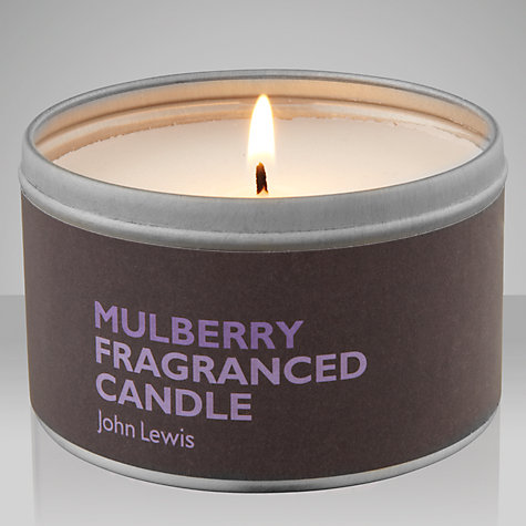 Buy John Lewis Mulberry Scented Candle In A Tin Online at johnlewis.com