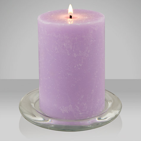 Buy John Lewis Mulberry Scented Pillar Candle, Small Online at johnlewis.com