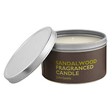Buy John Lewis Sandalwood Scented Candle In A Tin Online at johnlewis.com