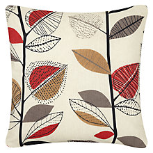 Buy John Lewis Autumn Leaves Cushion, Red Online at johnlewis.com