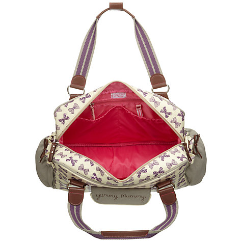 Buy Pink Lining Yummy Mummy Bows Changing Bag, Grape Online at johnlewis.com