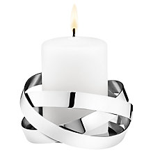 Buy Georg Jensen Ribbon Candle Holder, Medium Online at johnlewis.com