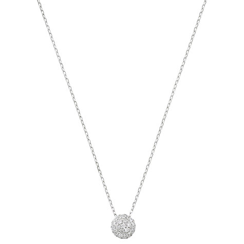 Buy London Road Bloomsbury Ball Diamond 9ct White Gold Pendant Necklace Online at johnlewis.com