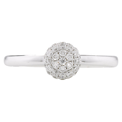 Buy London Road Bloomsbury Ball Diamond 9ct White Gold Ring, N Online at johnlewis.com