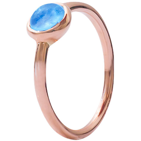 Buy London Road Pimlico Bubble Topaz 9ct Rose Gold Stacking Ring, N Online at johnlewis.com