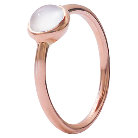 Buy London Road Pimlico Bubble Moonstone 9ct Rose Gold Stacking Ring, N Online at johnlewis.com