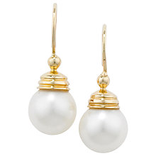 Buy London Road Burlington 9ct Yellow Gold & Pearl Ball Drop Earrings Online at johnlewis.com