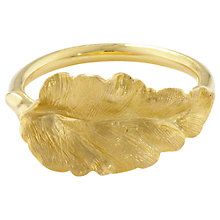 Buy London Road Golden Leaf Ring, N Online at johnlewis.com