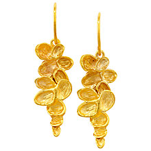 Buy London Road Falling Leaves Gold Earrings Online at johnlewis.com