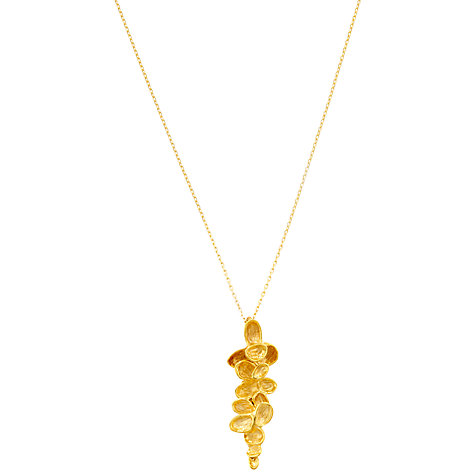 Buy London Road Falling Leaves Yellow Gold Pendant Necklace Online at johnlewis.com