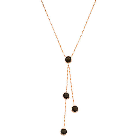 Buy London Road Pimlico Rain Drop 9ct Rose Gold Necklace Online at johnlewis.com