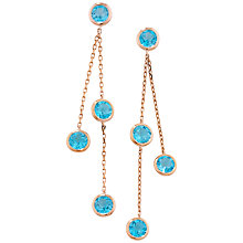 Buy London Road Rose Gold Double Drop Earrings Online at johnlewis.com