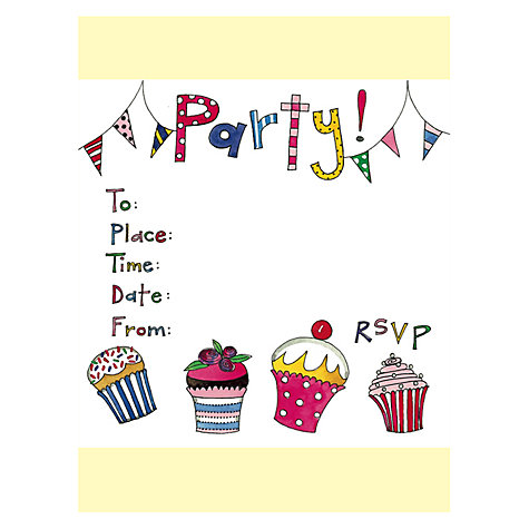 Buy Rachel Ellen Cupcake Party Invitations, Set Of 8 Online at johnlewis.com