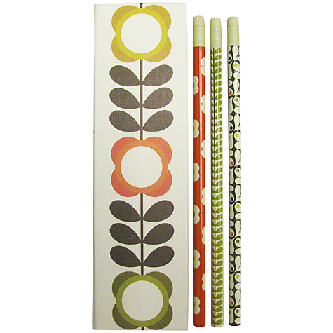 Buy Orla Kiely Stem Flower Set Of Pencils, Multi Online at johnlewis.com