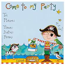 Buy Rachel Ellen Party Invitations, Pirate, Pack Of 8 Online at johnlewis.com