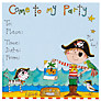 Rachel Ellen Party Invitations, Pirate, Pack Of 8
