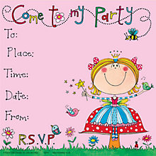 Buy Rachel Ellen Fairy Invitations, Pack Of 8 Online at johnlewis.com