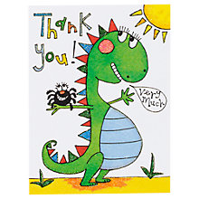 Buy Rachel Ellen Thank You Notecards, Dinosaur, Pack Of 5 Online at johnlewis.com