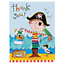 Rachel Ellen Thank You Notecards, Pirate, Pack Of 5