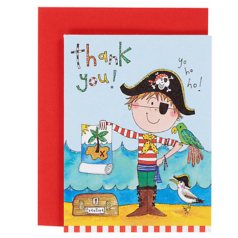 Buy Rachel Ellen Thank You Notecards, Pirate, Pack Of 5 Online at johnlewis.com