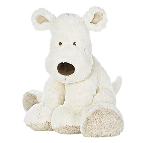 Buy Teddykompaniet Hund Extra Large Dog Toy, Cream Online at johnlewis.com