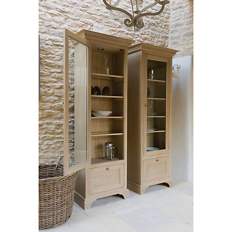 Buy Neptune Henley Full Height Narrow Glazed Cabinet, Oak, Left Hand Opening Online at johnlewis.com
