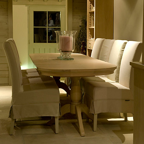 Buy Neptune Henley 6-12 Seater Rectangular Extending Dining Table, Oak Online at johnlewis.com