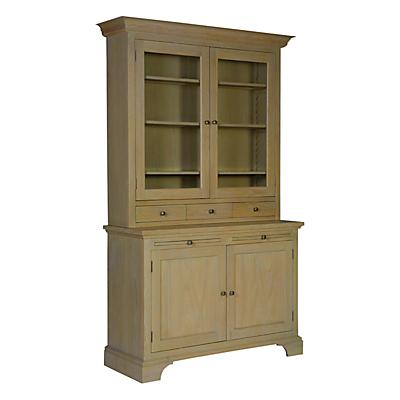 Neptune Henley 4ft Glazed Rack Dresser, Oak