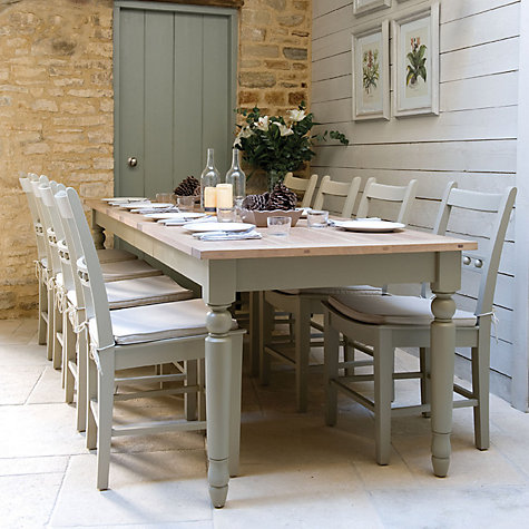 Buy Neptune Suffolk 6-10 Seater Seasoned Oak Extending Dining Table, Honed Slate Online at johnlewis.com