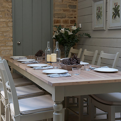 Buy Neptune Suffolk 8-12 Seater Seasoned Oak Extending Dining Table, Honed Slate Online at johnlewis.com