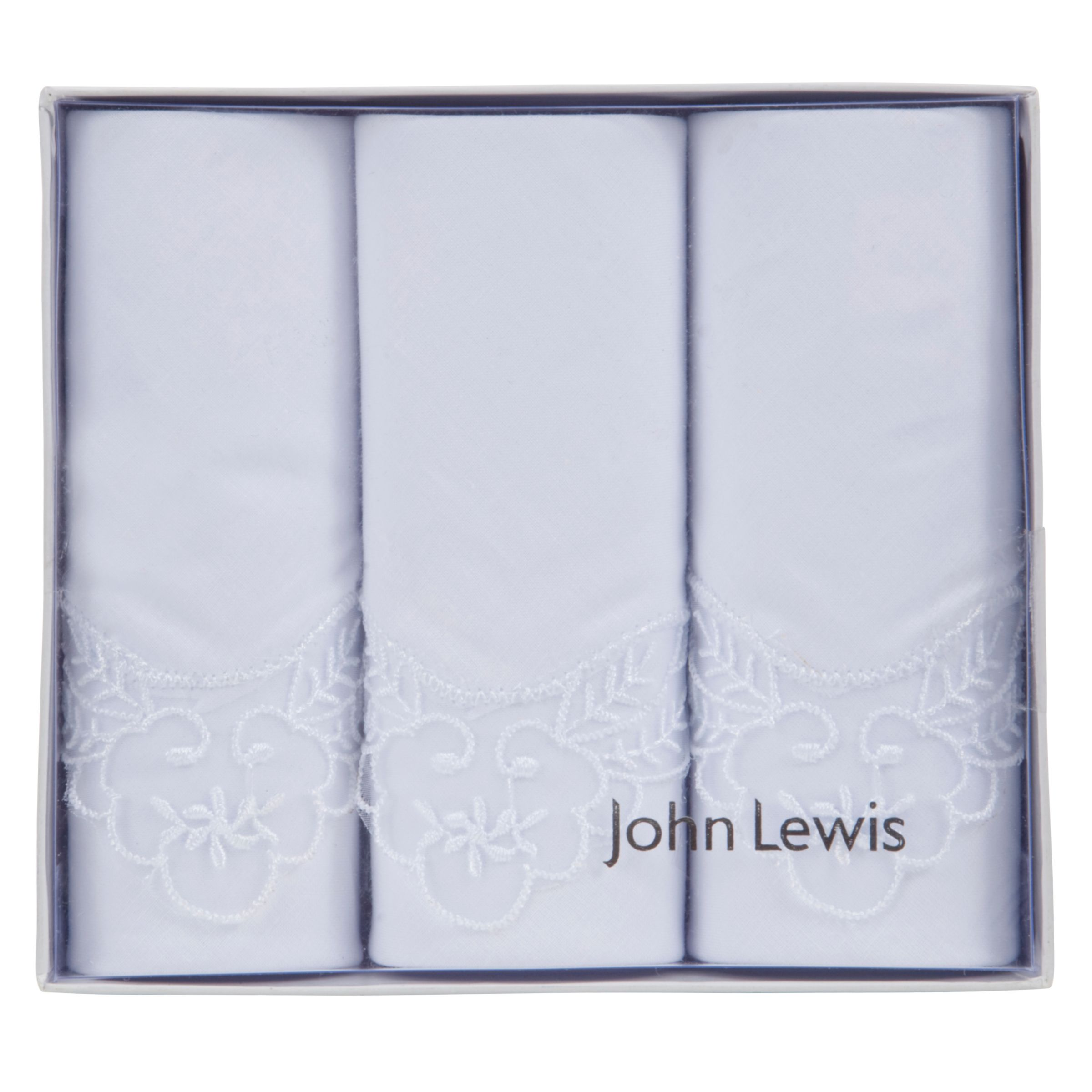 John Lewis Wedding Gift List Review : Buy John Lewis Lace Edge Detail Handkerchiefs, Pack of 3, White John ...