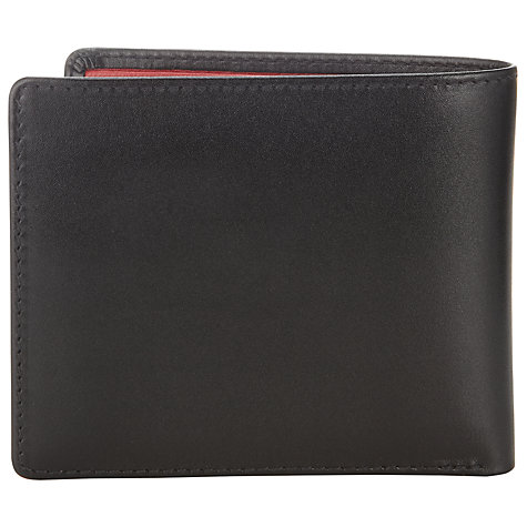 Buy Launer Leather Bi-Fold Wallet, Black Online at johnlewis.com