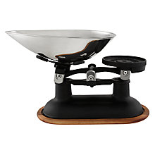 Buy KitchenCraft Traditional Balance Kitchen Scale, Black Online at johnlewis.com
