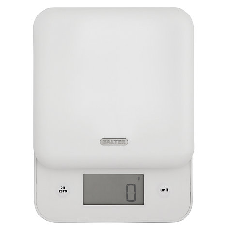 Buy Salter Slide and Weigh Kitchen Scale, White Online at johnlewis.com