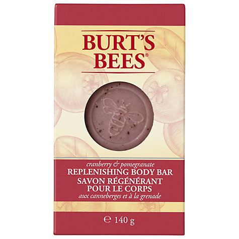 Buy Burts Bees Cranberry and Pomegranate Replenishing Body Bar, 140g Online at johnlewis.com