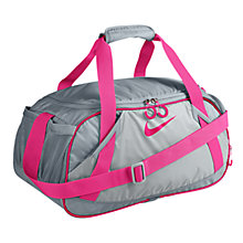 Buy Nike LIVESTRONG Varsity Girl Medium Duffel Bag, Wolf Grey/Cherry Online at johnlewis.com