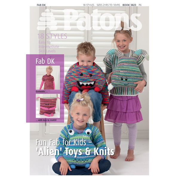 Buy Patons Knitting Patterns, Fun Fab for Kids John Lewis