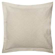 Buy John Lewis City Sham Pillow / Cushion Cover, Ecru Online at johnlewis.com