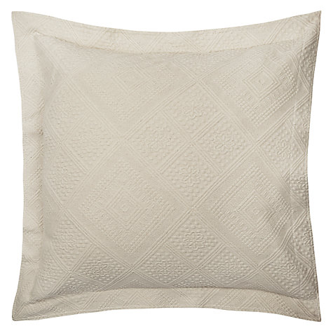 Buy John Lewis City Pillow / Cushion Cover, Ecru Online at johnlewis.com