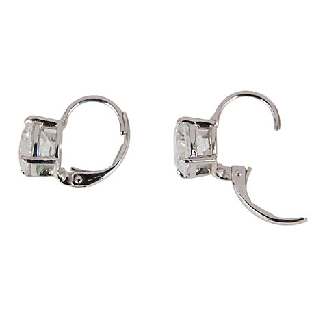 Buy Cachet Rhinestone Silver Toned Leverback Drop Earrings Online at johnlewis.com