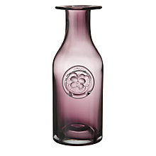 Buy Dartington Crystal Flower Bottle Vase, Pink Pansy Online at johnlewis.com