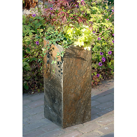 Buy Foras Surmi Planter, Natural Slate, Square Online at johnlewis.com