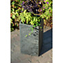 Buy Foras Surmi Planters, Polished Slate, Square Online at johnlewis.com