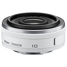 Buy Nikon 10mm f/2.8 1 NIKKOR Pancake Lens, White Online at johnlewis.com