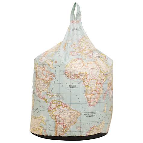 Buy John Lewis World Map Beanbag, Multi Online at johnlewis.com