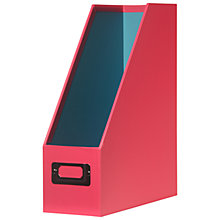 Buy John Lewis Bright Magazine Rack, Pink / Aqua Online at johnlewis.com