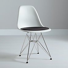 Buy Eames DSR Upholstered Side Chairs, Stone Online at johnlewis.com