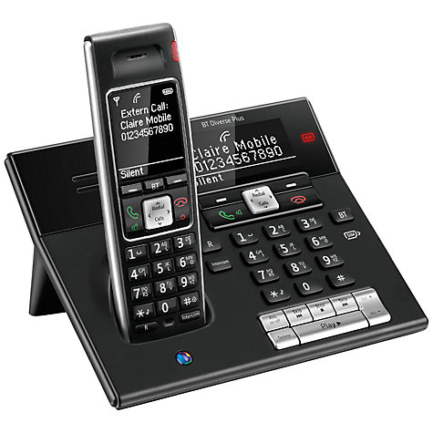 Buy BT Diverse 7460 Plus Digital Telephone and Answering Machine, Single DECT Online at johnlewis.com
